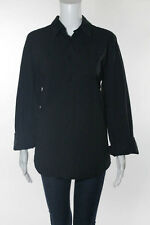 VERSUS GIANNI VERSACE Men's Black Collared Button Down Long Sleeve Shirt Sz 36