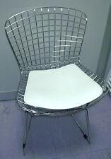 Sedia Bertoia rete acciaio cuscino nero bianco rosso wire chair cucina replica