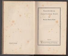 RAINER MARIA RILKE-GESCHICHTEN VOM LIEBEN GOTT-1922 LIEPZIG-L2859