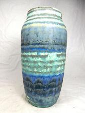 70´s design Scheurich Keramik vase in a rare torquoise glaze variation 242 22