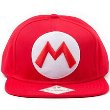 NEW OFFICIAL Super Mario Mario Nintendo Classic Logo Baseball Cap Hat / Trucker