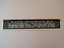 Roger Staubach Cowboys Nameplate For A Football Jersey Display Case 1.25 X 6