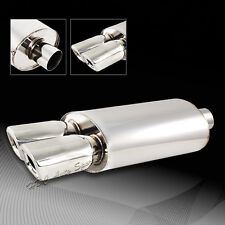 """3"""" Remus Style Dual Square Tip Stainless Weld On Exhaust Muffler Universal 5"""