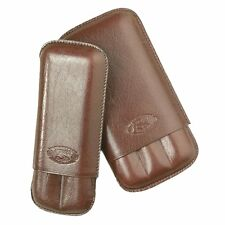 Cuban Crafters - 3 Stick Leather Cigar Case  - Sienna Brown