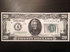 Replica Copy $20 Bill Federal Reserve Note 1928-Cleveland Jackson 1st Small Size