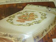 Vintage Paragon ROSE BROCADE Cross Stitch Double Full Bed QUILT KIT 01196