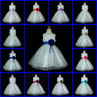 198  Ivory Bridesmaid Wedding Party Flower Girls Dresses Age 1 to 13 Y