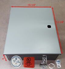 Electrical Enclosure, Steel, 1 Sheet Metal Box Project 10x12x4. Made in CANADA