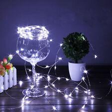 2M 20 LED String Light Lamp Christmas Wedding Party Garden Decor Cold white