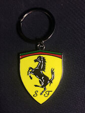 Stylish car logo key chain single hollow out, is suitable for ferrari