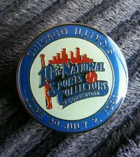 1989 10th NSCC National Sports Collectors Convention Pin Chicago