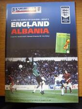 05/09/2001 England v Albania [At Newcastle United]  (Item Has No Apparent Faults
