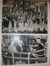 Photo article President Theodor Heuss of Germany with Queen Elizabeth 1958