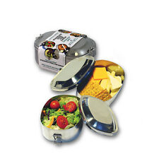 New Wave Enviro Stainless Steel Lunch Box Reusable Food Container w/ Clamp Bento