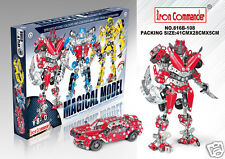 TRANSFORMERS RED ALERT MECCANO TOYS METAL BUILDING KIT / 555 PCS / Red