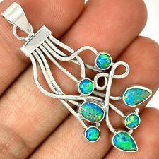 Fire Opal 925 Sterling Silver Pendant Jewelry PP23195