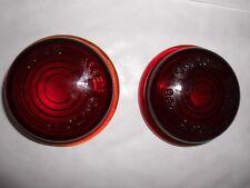 LUCAS L488 RED GLASS LENSES N.O.S.