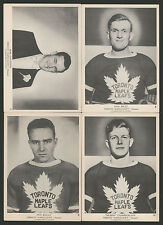 1939 1939-40 1940 V301-1 O-PEE-CHEE HOCKEY CARDS (4) TORONTO MAPLE LEAFS