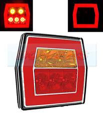 12V/24V Glow anillo de LED Luz Trasera Lámpara de cola cuadrada camión van coche tablero de remolque
