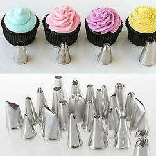 24Pcs Icing Piping Nozzle Pastry Tips Fondant Cake Sugarcraft Decor baking Tools