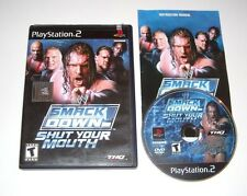 Smackdown Shut Your Mouth Playstation 2 PS2 Game Complete 2002 Black Label