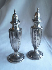 Antique International Silver Salt & Pepper Shakers Sterling Signed 01804