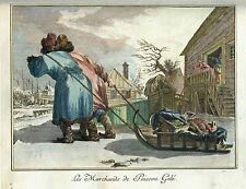 Russland - Fischhändler - sehr schöner Original-Kupferstich 1765!!!