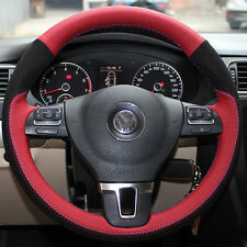 DIY Stitch Leather Steering Wheel Cover for Volkswagon VW Tiguan 2010 2014 2016