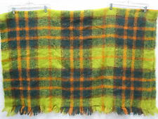 Vintage 60s Hudson's Bay Company Checkered Mohair Blanket Color #19