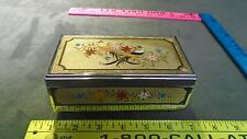 VINTAGE LADY MATE JAPANESE BIRDS ETCHED METAL PLASTIC JEWELRY MUSIC BOX