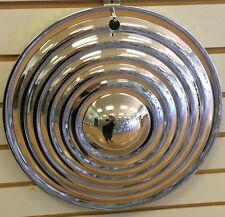"15"" RIPPLE Style STARBURST Chrome CUSTOM Hot Rat Rod Hubcaps Wheelcover"