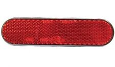 NEW MOTORCYCLE STICK ON NUMBER PLATE SELF ADHESIVE REFLECTOR MOT RED - OBLONG