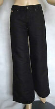 NEW LADIES BLACK LEE COOPER LINEN MIX JEAN STYLE FLARE KICK TROUSER SIZE 8 L34