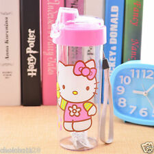 Hello Kitty Clear Plastic Cover Lock Travel Water Bottle 400ml KK769