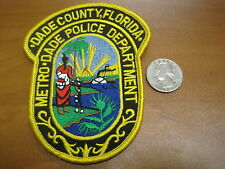 Vintage Police Department Dade County Florida Patch Native American