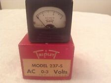 Triplett Panel Meter 237S 0-3 AC VOLTS New ACV