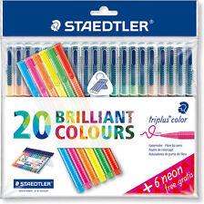 Staedtler triplus color fibre TIP-1.0MM-20 couleurs vives - 6 free néon stylos