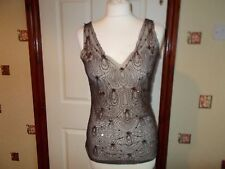 MONSOON SIZE 10 SHEER LACE BEAD SEQUIN PARTY TOP