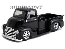 JADA 97462 1952 CHEVROLET COE PICK UP TRUCK 1/24 BLACK with CHROME WHEELS