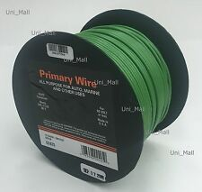 New DEKA 14AWG 50 FT Green Primary Wire Rated 80 degree C, Made in USA