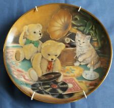 "Franklin Mint Collectors Plate By Sue Willis Teddy's ""Music Hour"" Ltd Ed #LA4913"