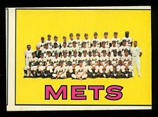 1967 TOPPS O PEE CHEE OPC BASEBALL #42 N Y METS TEAM EX WITH NOLAN RYAN RC YEAR