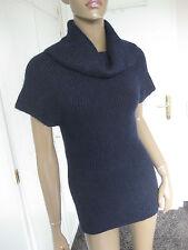 Anna Field bildschöner Pullover Gr. S / 36  blau kurzarm