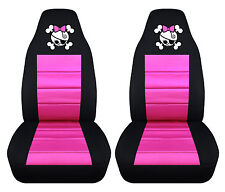 Set Of Girly Skull Front Car Seat Covers ,Custom your own color