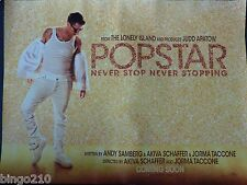 POPSTAR NEVER STOP STOPPING ORIGINAL 2016 CINEMA QUAD POSTER THE LONELY ISLAND