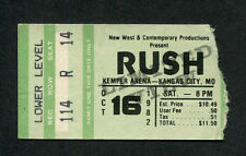 1982 Rush Rory Gallagher concert ticket stub Kansas City Signals Tour Tom Sawyer