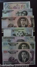 KOREA SET OF 7 BEAUTIFUL NOTES UNC 1,10,100,200,500,1000 AND 5000 WON # NK7