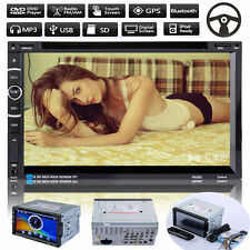 "7"" HD Double 2 DIN Car CD DVD Player GPS Navigation Bluetooth Touch Stereo Radio"