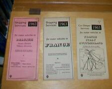 AA SHIPPING SERVICES & CAR-SLEEPER SERVICES 1963 LEAFLETS FRANCE BELGIUM ITALY