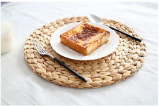 30cm Natual Straw Water Hyacinth Weave Placemat Tablemat Kitchen Dinner Mat